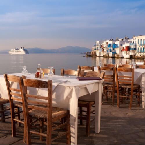 Illallinen kreikan saarilla