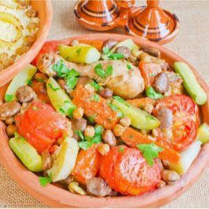 Seitsemän kasviksen couscous